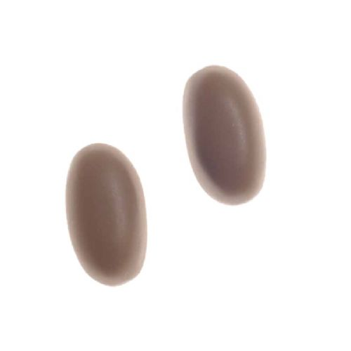 Jackie Brazil Matt Finish Capsule Stud Earrings in Boheme Natural Brown